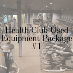 pre-owned fitness equipment package for a gym